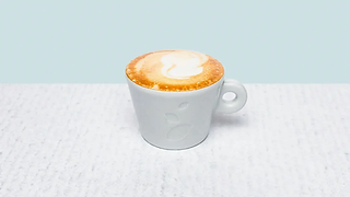 Cup of double cappuccino coffe