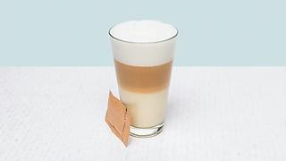 Cup of late macchiato coffe