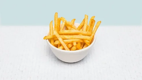 French fries in a white bowl