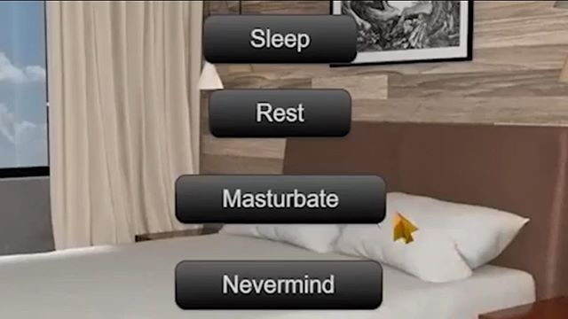 sleep rest masturbate nevermind
