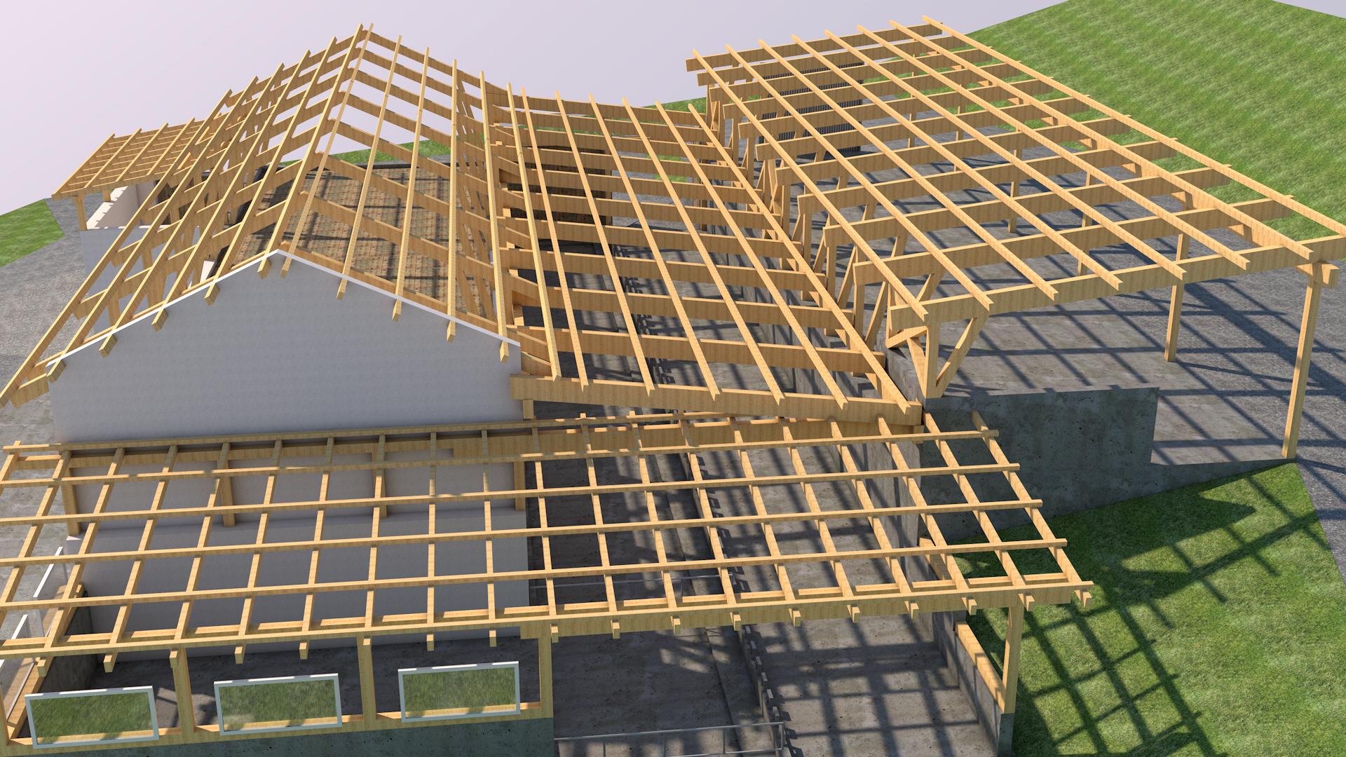 Rendering 2 Holzkonstruktion