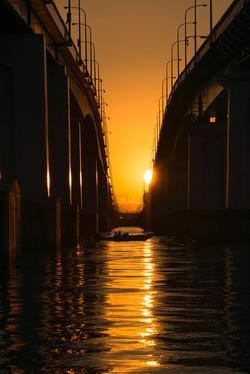 """Sunrise on the fish boat"""