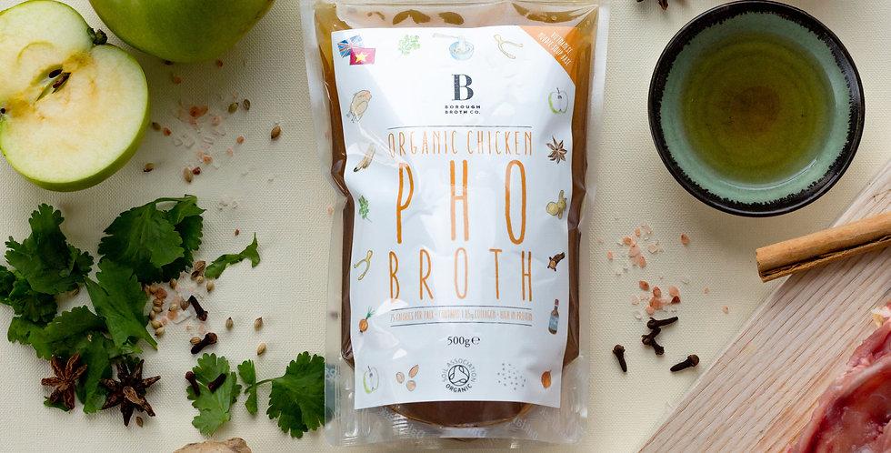 Organic chicken pho broth