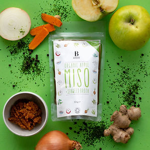 Organic apple, miso and seaweed broth by Borough Broth co