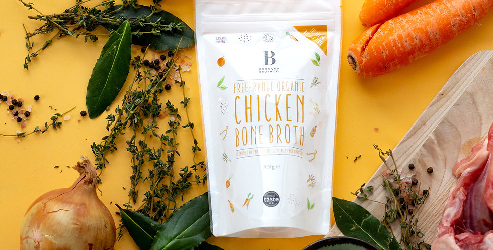 Free-Range Organic Chicken Bone Broth