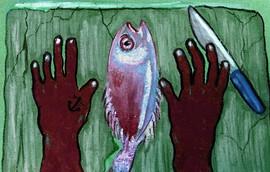 Hands sea