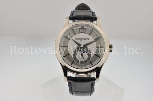 Patek Philippe 5205g 001 Annual Calendar W Silver Dial Mint Minus Condition P