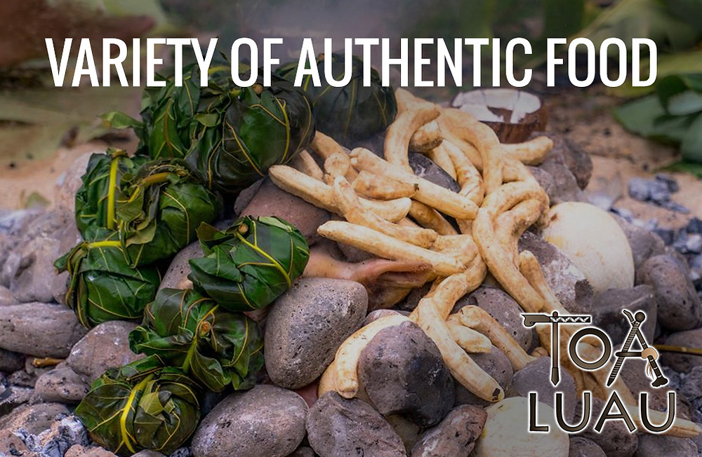 variety of authentic food