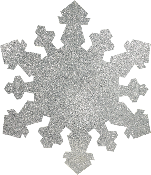 4ft Silver Glitter Snowflake