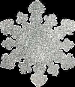 4ft Silver Glitter Snowflake
