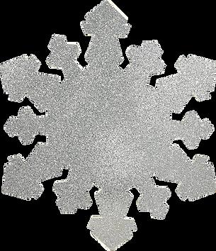 Silver Glitter Snowfake
