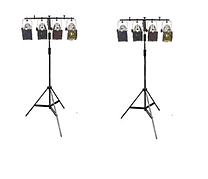 HIRE 36 - 2 x Bars of 6 Parcans & Controller & Stand