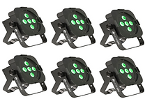 HIRE 105A - 6 x Quad LED Uplighters