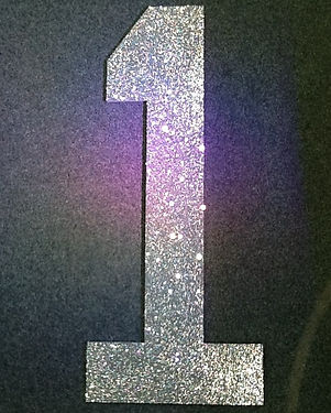 4ft Glitter Numbers