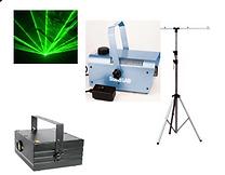 HIRE 103 - Large Green Laser, smoke machine, stand