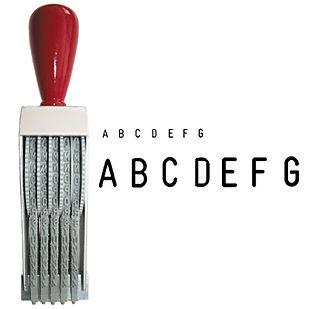sellos de caucho abecedarios