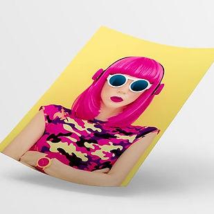 imprenta tinta flourescente rosa