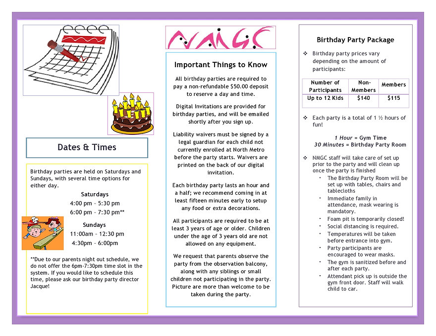 NMGC Birthday Party Brochure (1) - covid