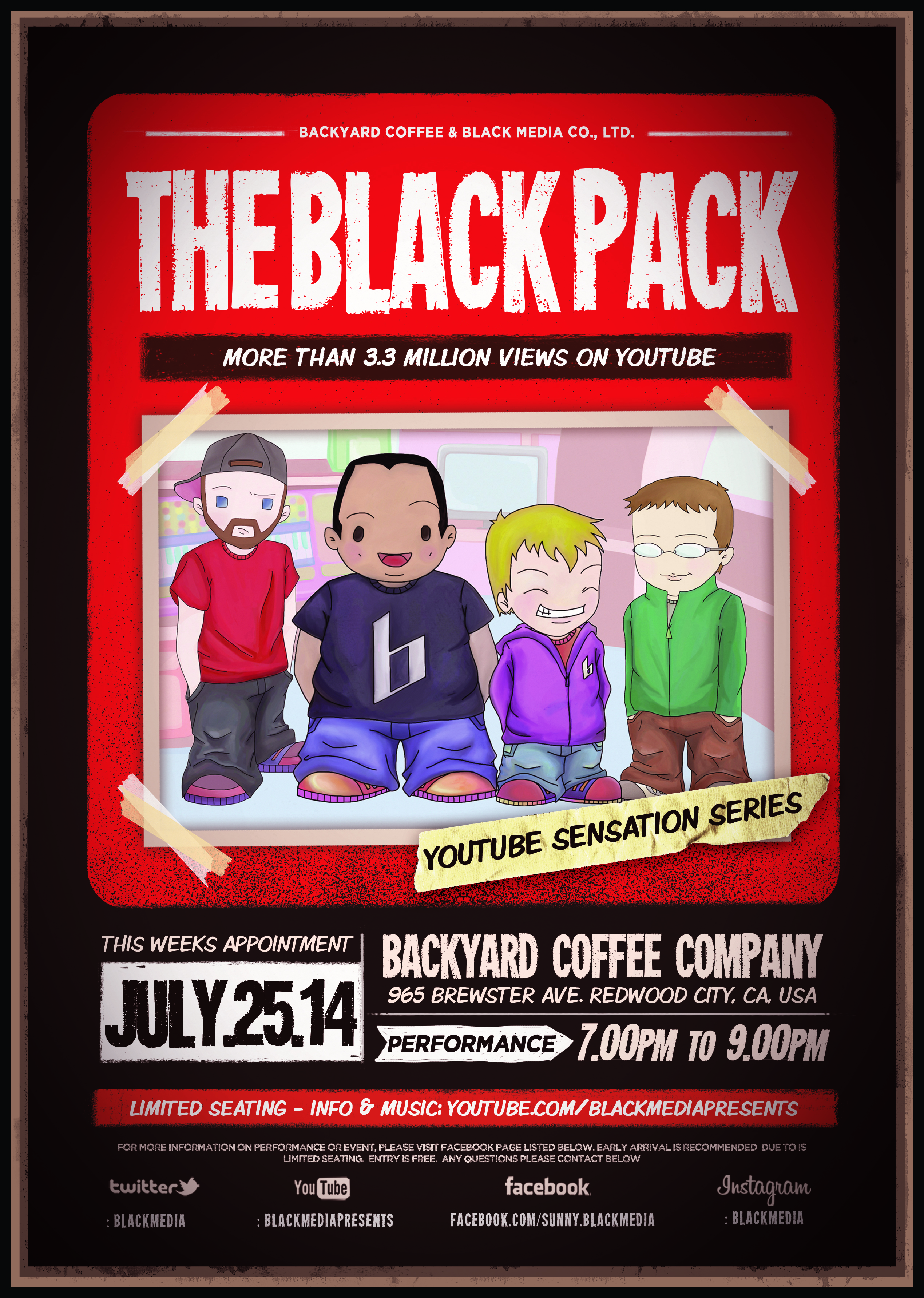 Black Pack Live Show - Redwood City