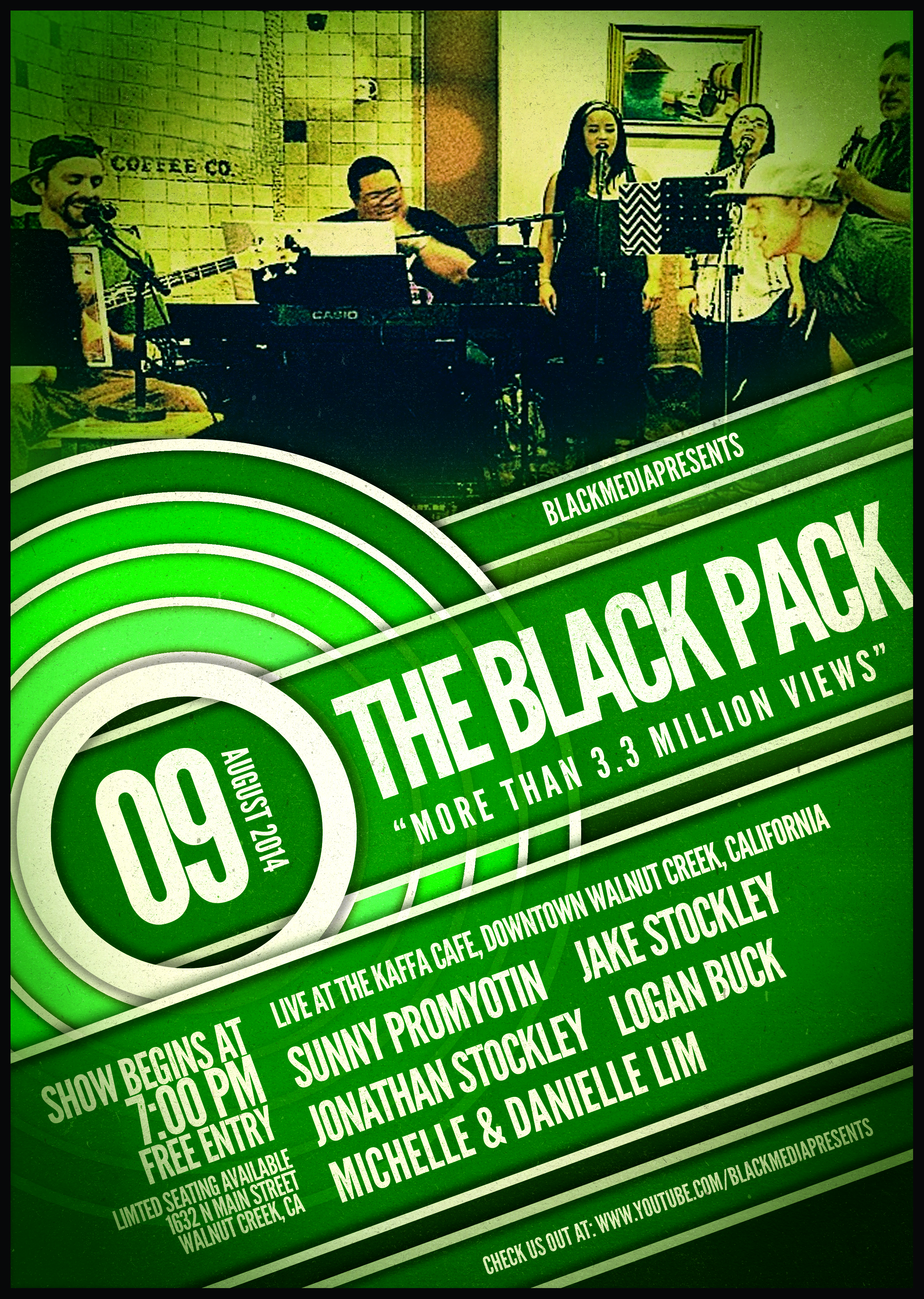 Black Pack Live Show at Kaffa Cafe