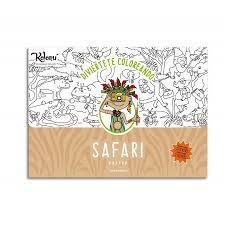 Póster para colorear Safari + stickers