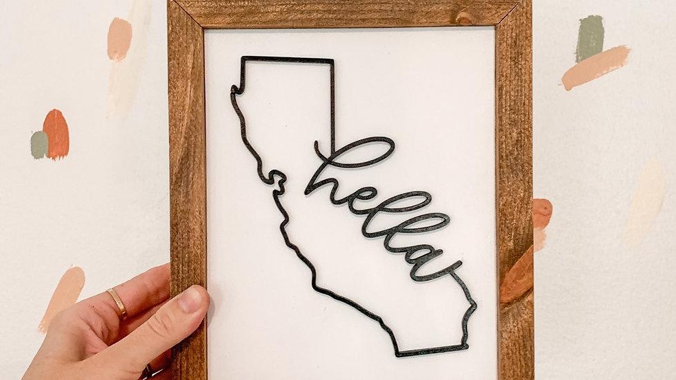 Custom State Sign