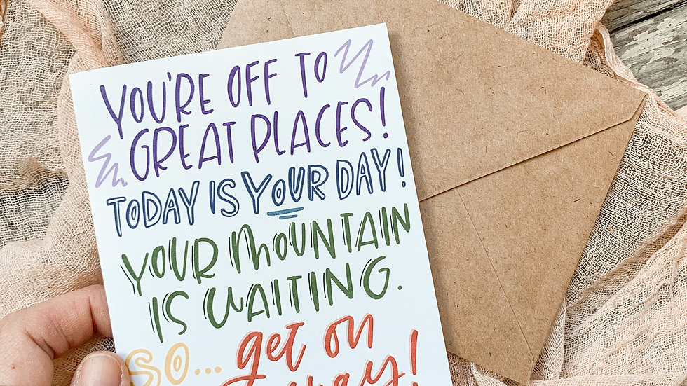 Off to Great Places card