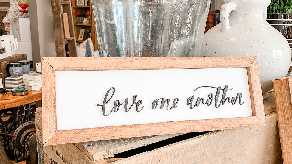 Love One Another laser cut sign