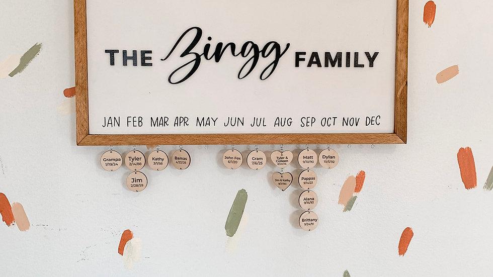 Family Celebration Sign
