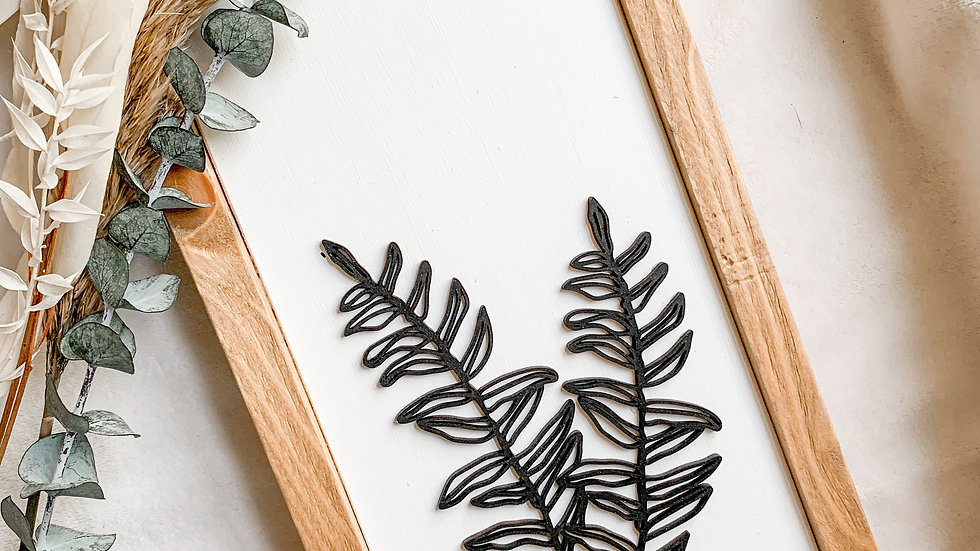 Fern Laser Cut wood sign