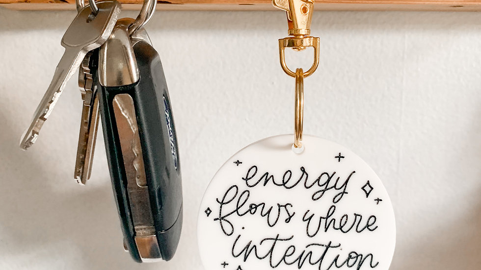 Energy/Intention keychain