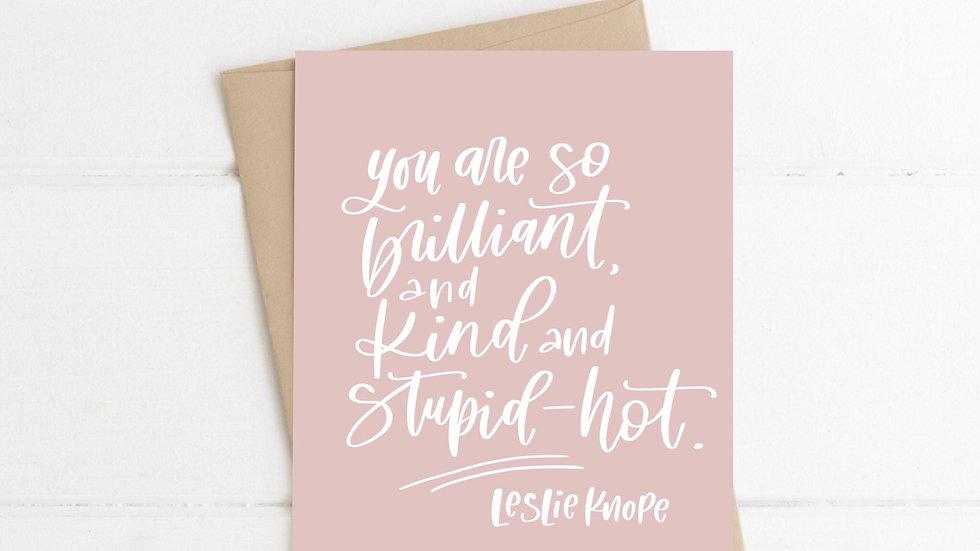 Brilliant Kind card