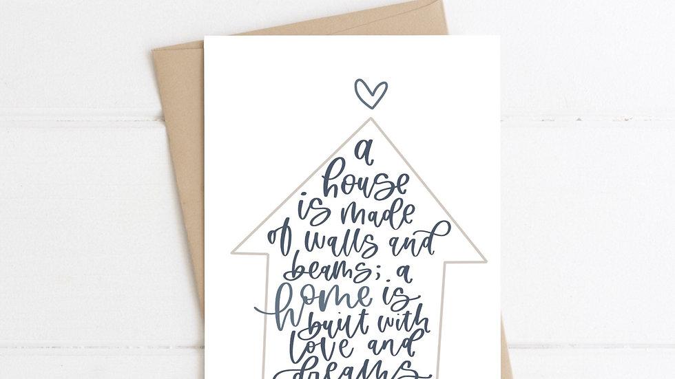 House-Home card