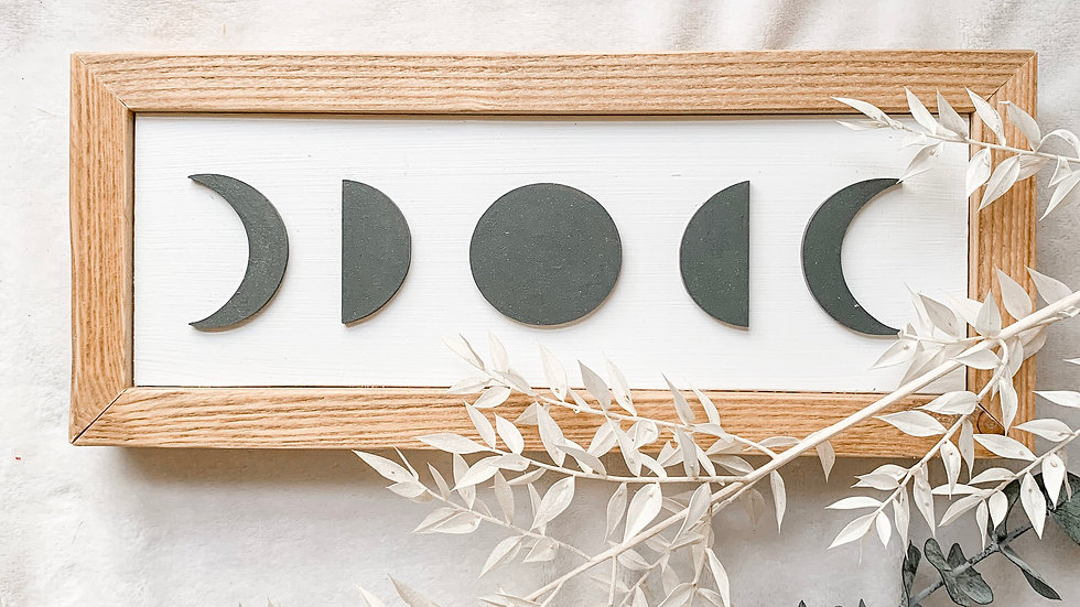 Moon Signs laser cut sign