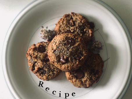 Paleo Choc Chip + Chia Seed Cookies