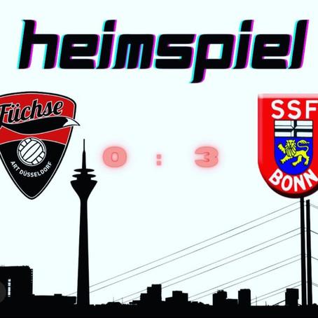 Spielbericht ART Düsseldorf - SSF Fortuna Bonn 0:3 (20:25; 27:29; 19:25) 03.10.2020