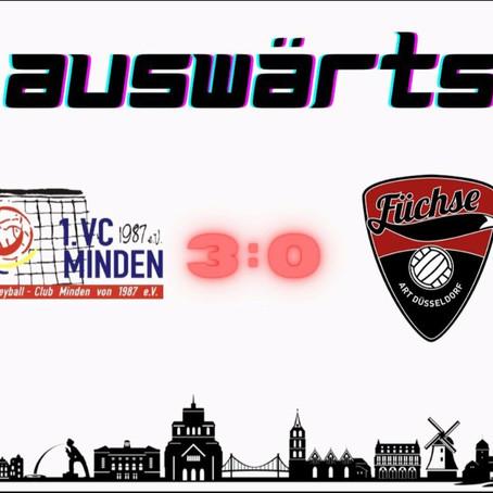 Spielbericht ART Düsseldorf - VC Minden 0:3 (23:25; 23:25; 13:25) 27.09.2020