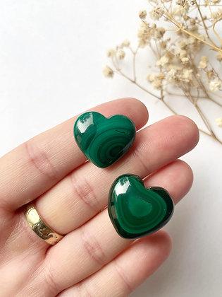 Malachite Hearts - Small