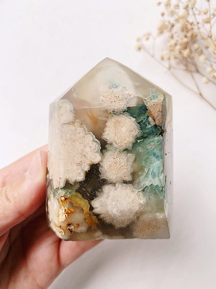Flower Agate Chunky Tower