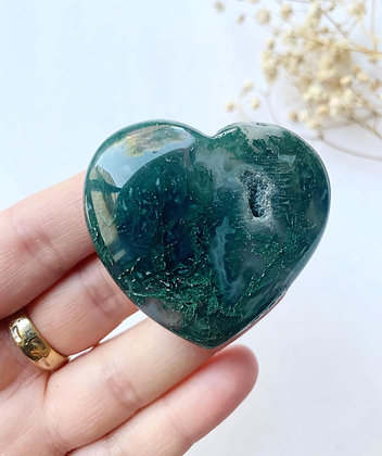 Moss Agate Heart 02