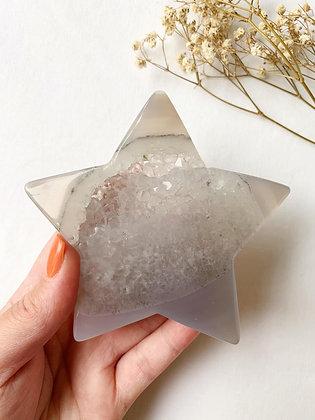 Agate Druzy Star