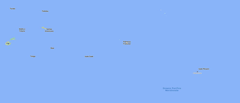 Polinesia Cartina