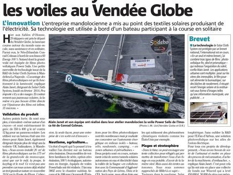Solar Cloth System met les voiles au Vendée Globe