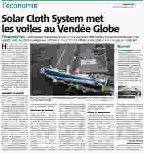 Solar Cloth System sponsorise le bateau de Conrad Colman au Vendée Globe