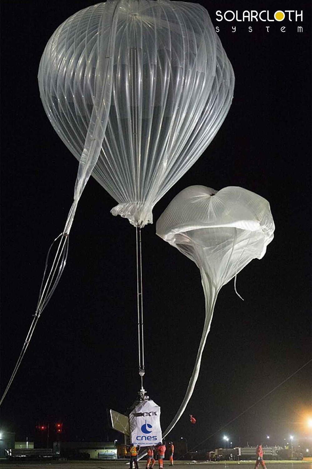 Strato ballon CNES et Solar Cloth System