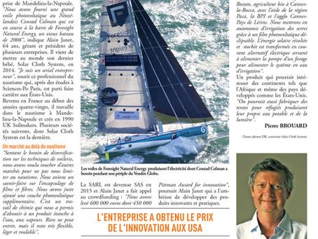 Solar Cloth System : Toutes voiles dehors pour le Vendée Globe