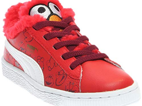 Puma Kids Basket Sesame Elmo AC (Little Kid/Big Kid)