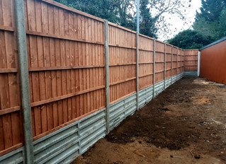 Fencing job in St Neots