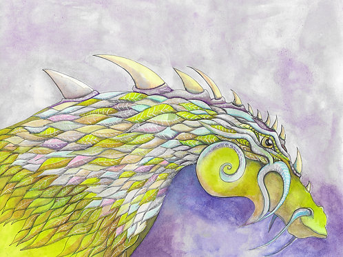 Toile imprimée dragon