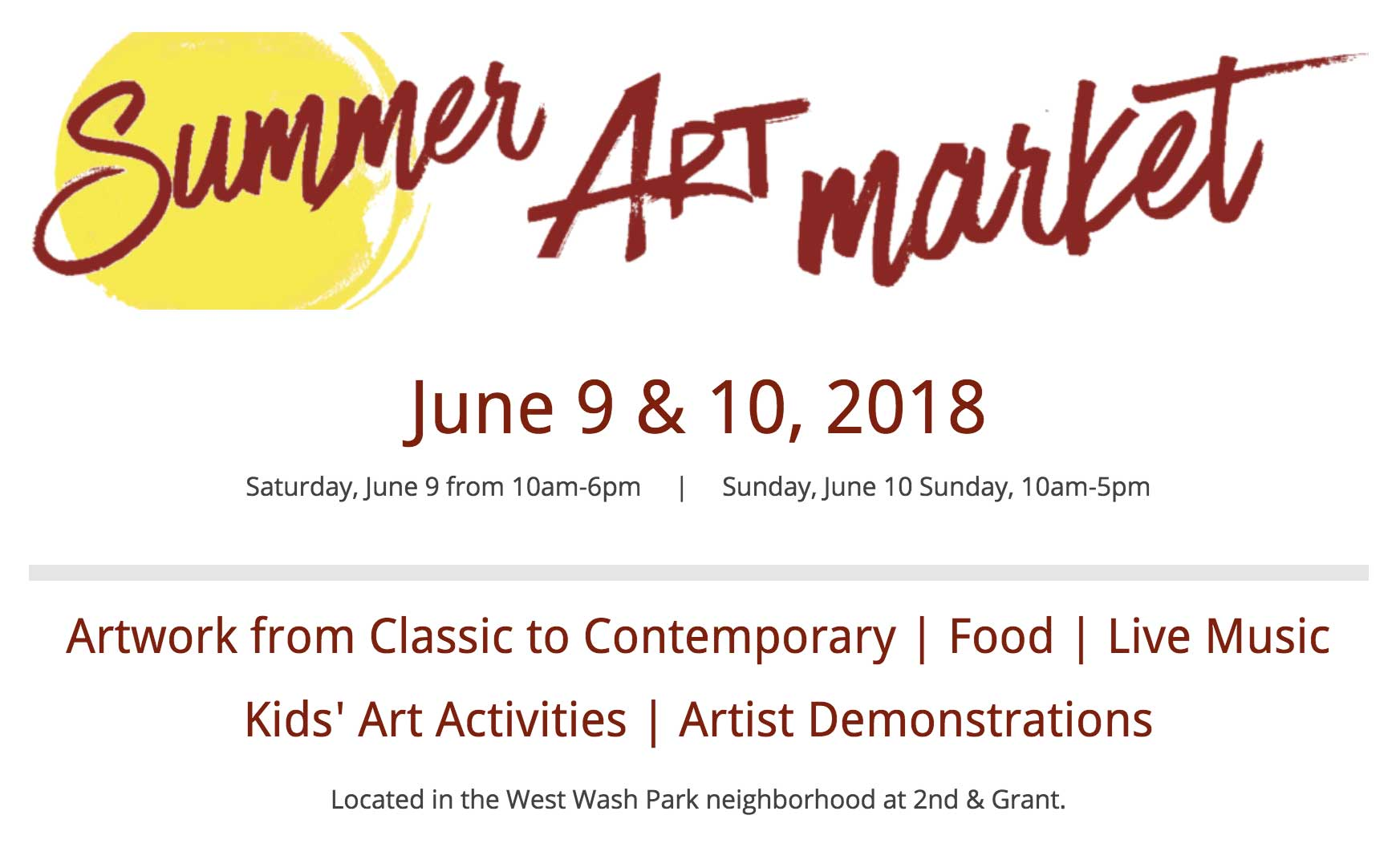 Summer Art Market 2018